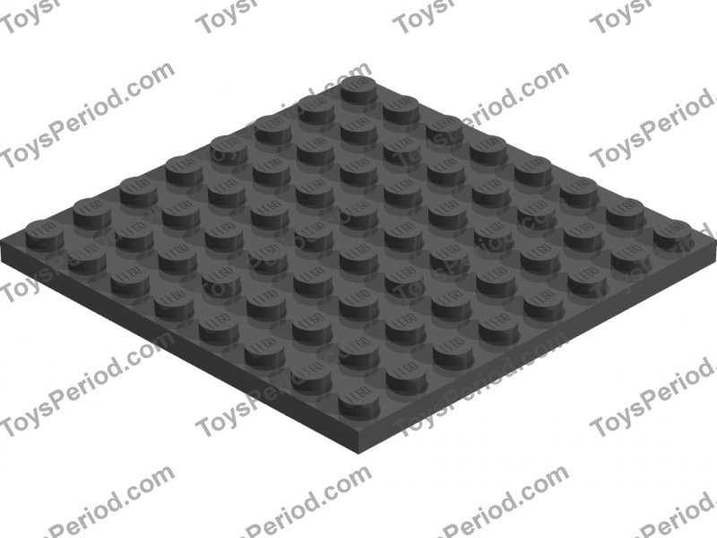 LEGO Black 8x8 Plate Part