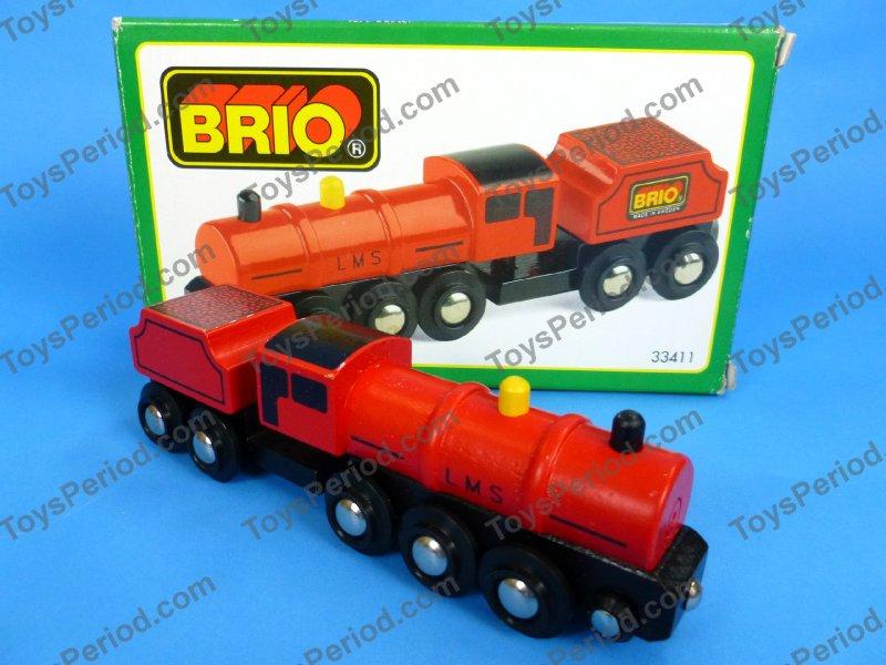 BRIO 33411 Large Red Engine Wooden Railway New Sweden ...