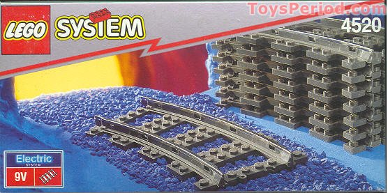 Building Toys From The 90s : Lego curved tracks set parts inventory and