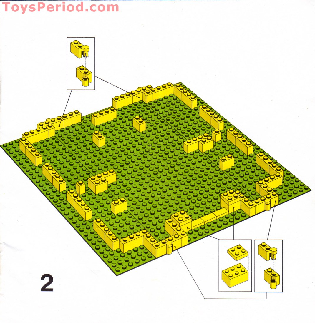 lego yellow castle instructions