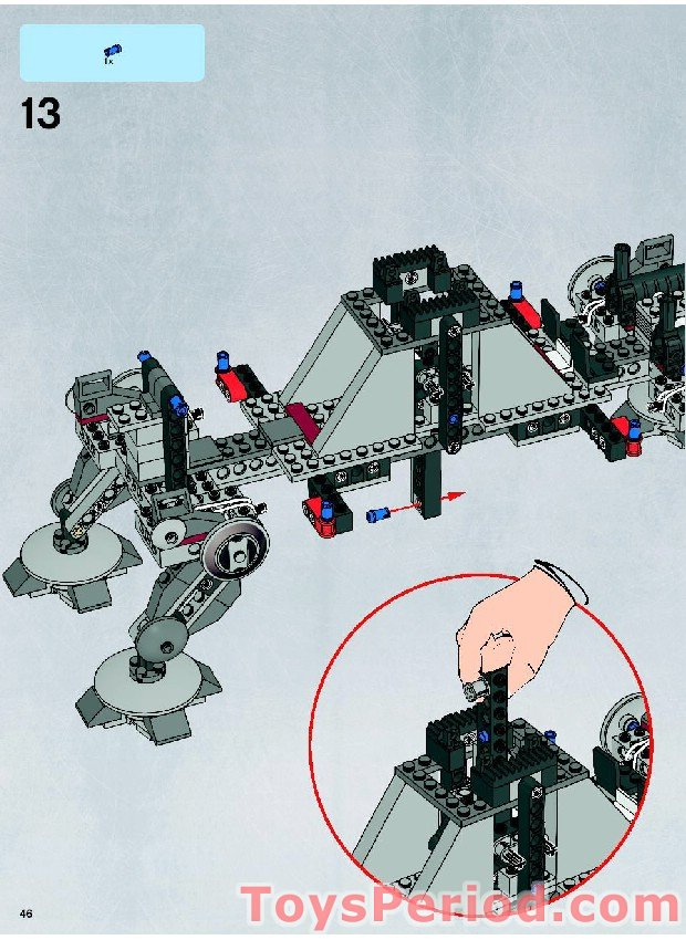 Lego 7675 At Te Walker Set Parts Inventory And Instructions Lego