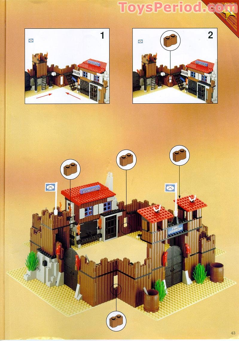 Lego 6769 Fort Legoredo Set Parts Inventory And